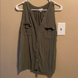 Merona button up tank